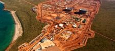 Aerial View of the Gorgon Plant Site on Barrow Island
